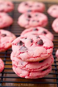 Strawberry Chocolate Chip Cookies - Sallys Baking Addiction