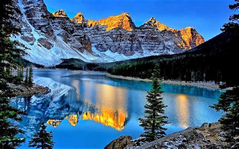 Five Moraine Lake Alberta Canada