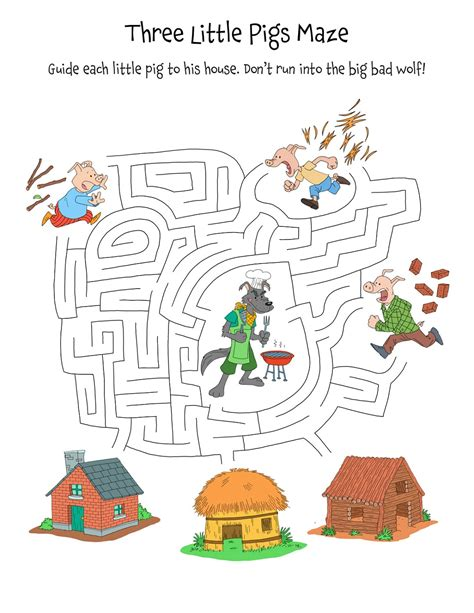 Printable Three Little Pigs Worksheets Activity Shelter