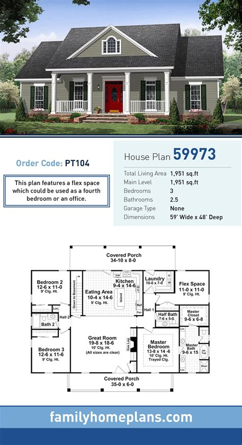 traditional style house plan    bed  bath  car garage traditional house plans