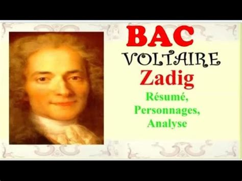 bac zadig de voltaire r 233 sum 233 personnages analyse wikipedia youtube