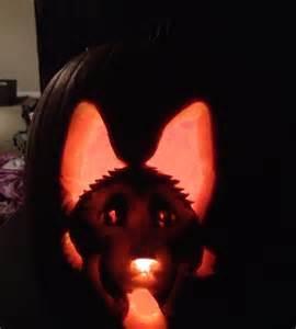 Dog Pumpkin Carving