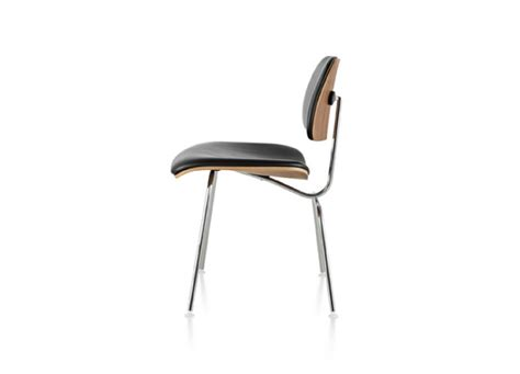 eames molded plywood upholstered dining chair metal base