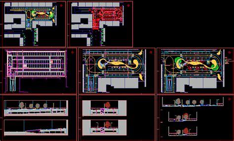 parking garage plan  dwg  autocad designs cad
