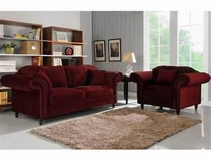canape et fauteuil 100 velours 3 coloris elisabeth With tapis de marche avec canapé scandinave velours