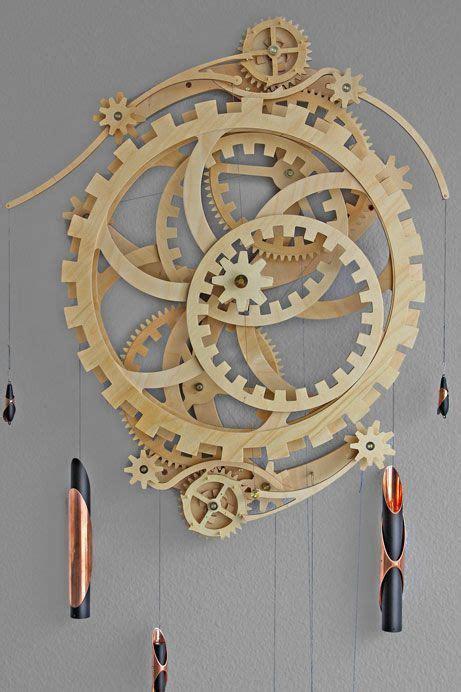 wooden gear clock plans  hawaii  clayton boyer art   breath   soul pinterest