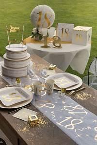 Chemin De Table Anniversaire : chemin de table anniversaire or 18ans x1 ref 6158 ~ Melissatoandfro.com Idées de Décoration