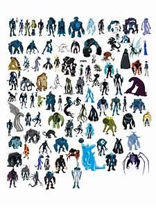Ben 10 All Aliens Characters Cartoon TV Series Art Giant ...