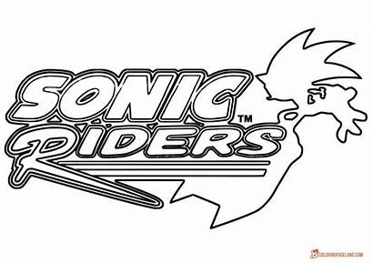 Sonic Pages Coloring Riders Games Characters Hoverboard