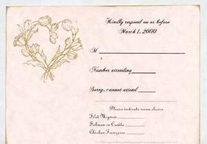 sample wedding response cards