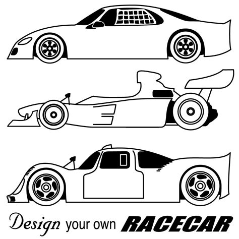 Race Cars Coloring Pages Free Large Images Coloring