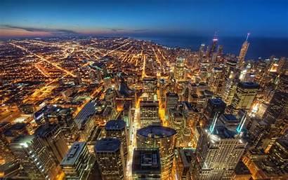 Skydeck Chicago Night Hdr 4k Dusk Tower