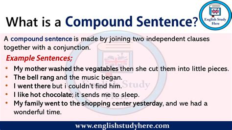 compound sentence english study