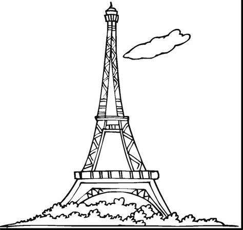 eiffel tower drawing  kids  getdrawings