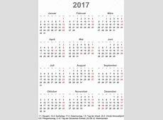 Prosty kalendarz 2017 z święta dla Niemiec — Grafika