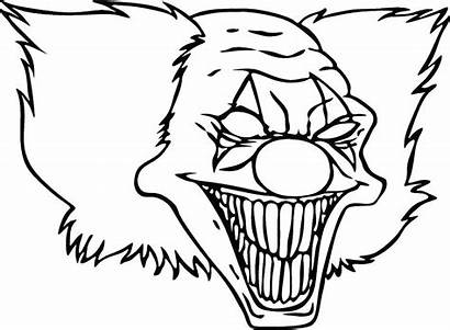 Clown Scary Face Drawing Evil Drawings Cool