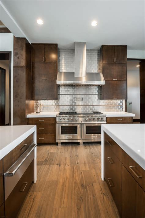 10 Stylish Aluminium Stainless Steel Kitchen Designs by Stainless Steel Backsplash The Pros And The Cons