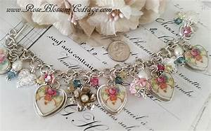 Forever Pink and Red Rosea Sterling Broken China Jewelry ...