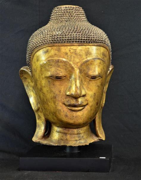 tete de bouddha t 234 te de bouddha mandalay papier m 226 ch 233 dor 233 18 19 232 me s hau