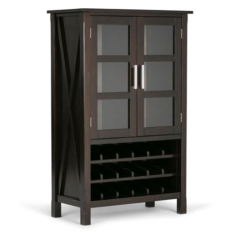 kitchener wine cabinets simpli home kitchener solid wood high storage 3538