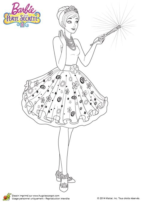 coloriage du film barbie  la porte secrete la baguette