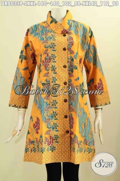 aneka baju batik wanita terkini motif mewah bahan halus