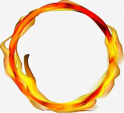 Fire Ring Clipart Flame Transparent Lingkaran Vektor
