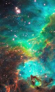 The Most Beautiful Green and Blue Nebula