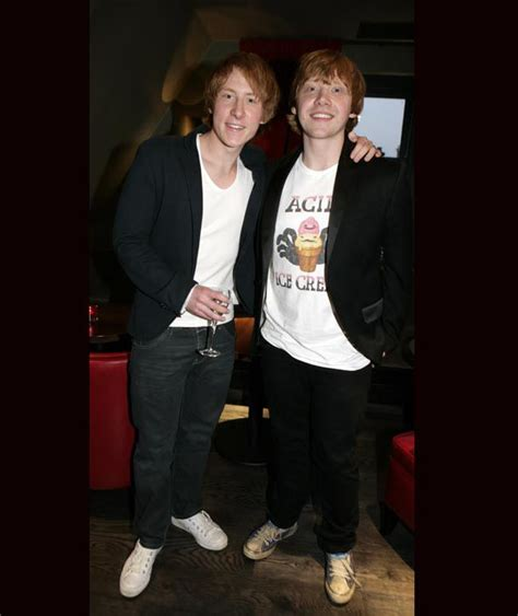 Rupert Grint And His Harry Potter Stunt Double, Anthony