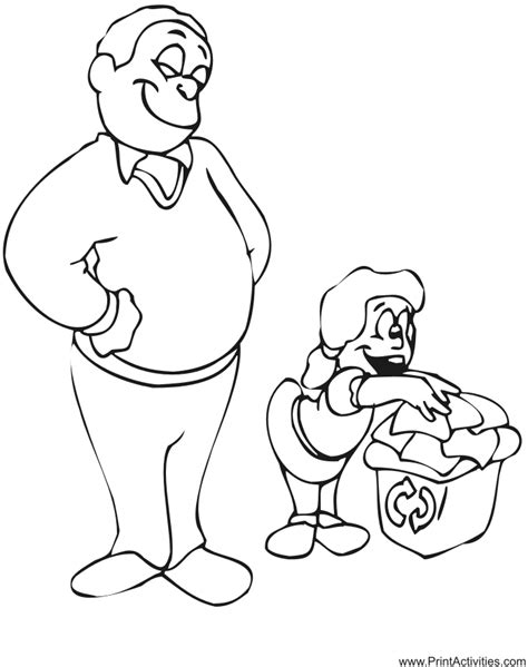 Father & Daughter Coloring Page  Family Coloring Page