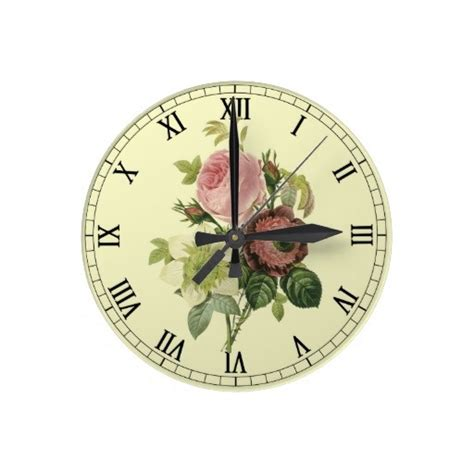 shabby chic clock shabby chic roses wall clock decor gifts challenge board pinterest