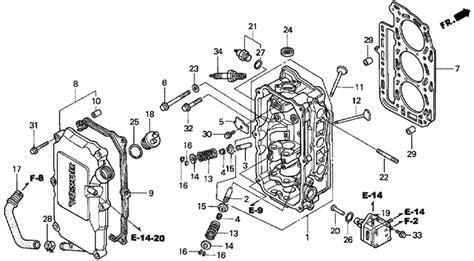 Головка блока цилиндра мотора Honda Bf30a Lhsj (cylinder
