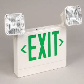 emergency lighting exit signs sign light combo units