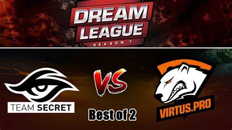 Secret Vs Virtuspro (bo2) L Dota 2 Dreamleague 7 Team