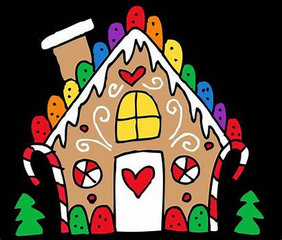 Clipart Gingerbread Workshop Houses Library Santa Santas