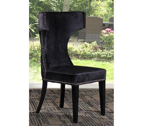 dreamfurniture alto modern black fabric dining chair