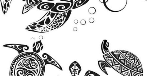 schildkroeten designs mit tribal  tattoos pinterest