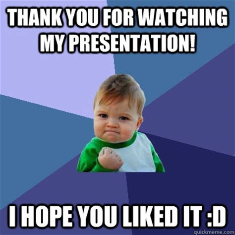 Funny Thank You for Watching My Presentation