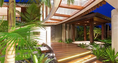 courtyard house plans tropical house chris clout design