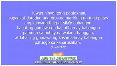 28 Juan Verse Bible Tagalog Lord Jesus