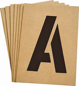 hy ko st 5 heavy duty number and letter stencil kit 5 in With letter stencil kit