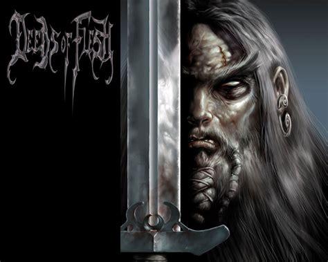 deeds  flesh artwork logo cover death metal band