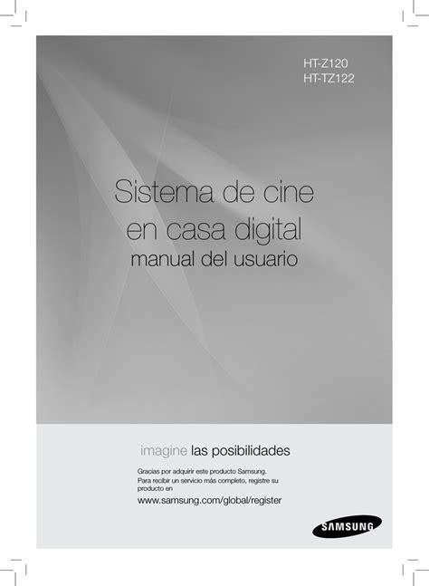 Samsung HT Z210 Manual de usuario Manualzz