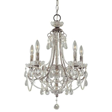 chandeliers at home depot designers calla 1 light argent silver mini
