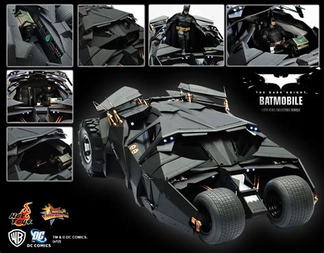 hot toys  batman  dark knight tdk batmobile tumbler