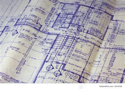 Construction: House Floor Plan Blueprint   Stock Picture