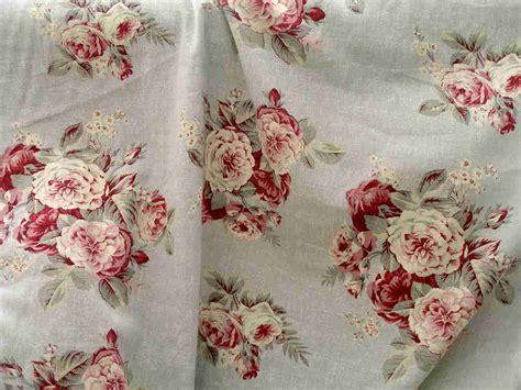 fabric shabby chic 2 yards shabby chic rachel ashwell manor linen roses fabric stunning ebay