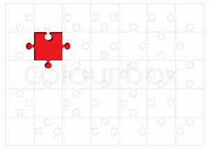 Jigsaw puzzle background concept with red missing piece ...