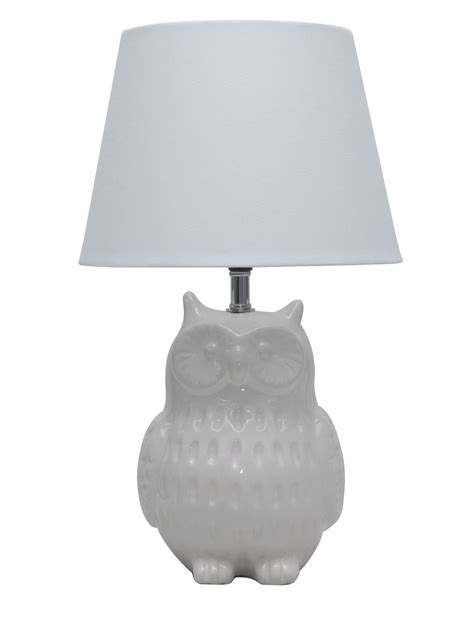 White Shade Bedroom Lamps White Bedside Lamps Nickel