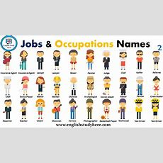 Jobs & Occupations Names  English Study Here